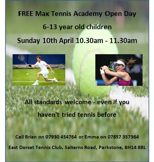 Max Tennis Academy Open Day